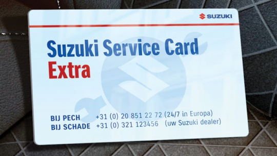 Gratis Suzuki Service Card Extra bij Auto Traa