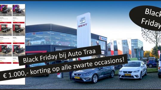 Black Friday bij Auto Traa: € 1.000,- korting op alle zwarte occasions
