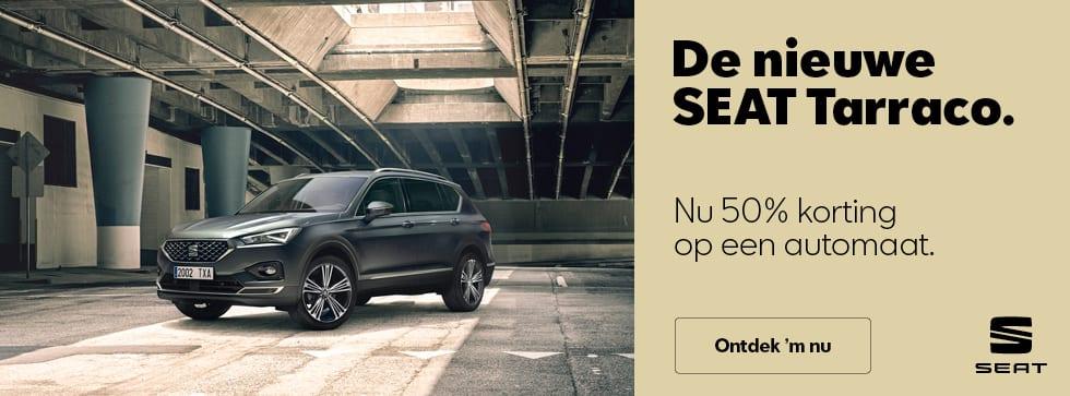 De nieuwe SEAT Tarraco. Nu 50% korting op de DSG-automaat