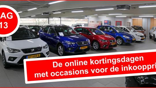 Dag 13 van de online kortingsdagen met occasions voor de inkoopprijs bij Auto Traa!