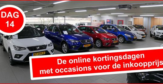 Dag 14 van de online kortingsdagen met occasions voor de inkoopprijs bij Auto Traa!